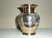 "5"" Brass Flower vase"