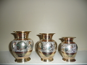 Brass flower vase package